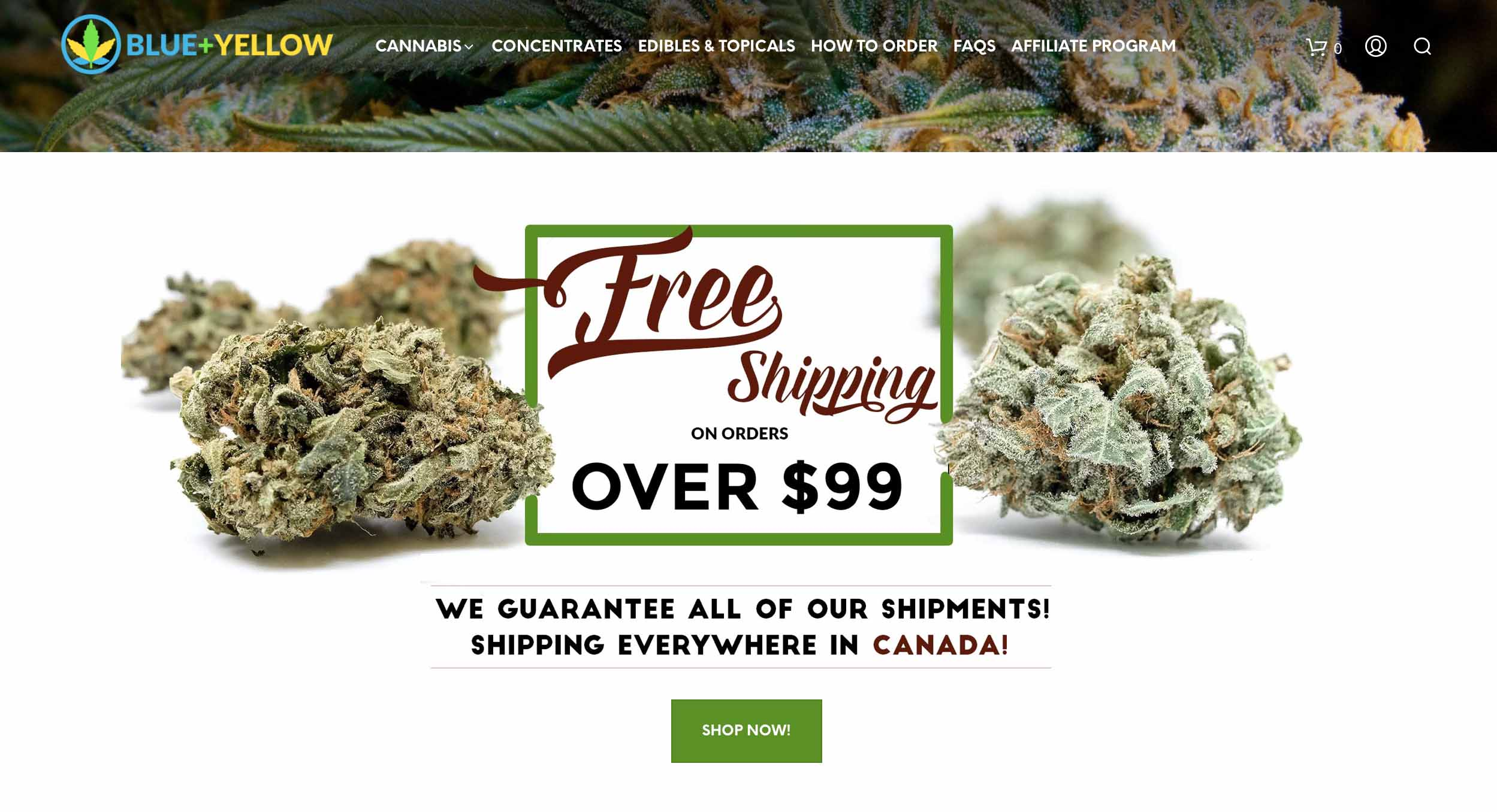 review of the blue plus yellow online dispensary