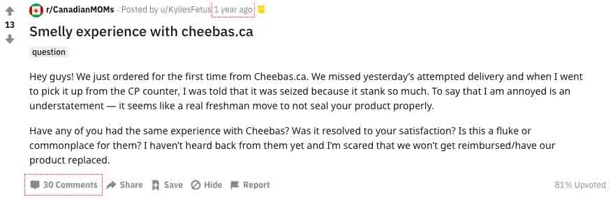 Is Cheebas online dispensary a scam?