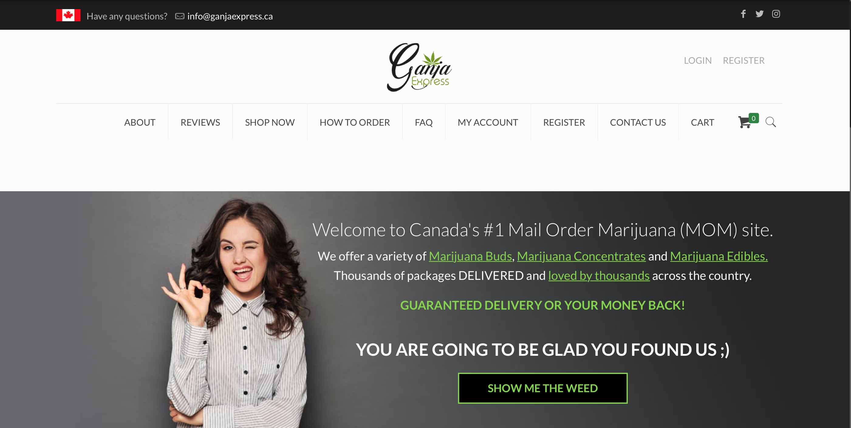 Ganja Express review and coupon code to save money on legal weed in Canada