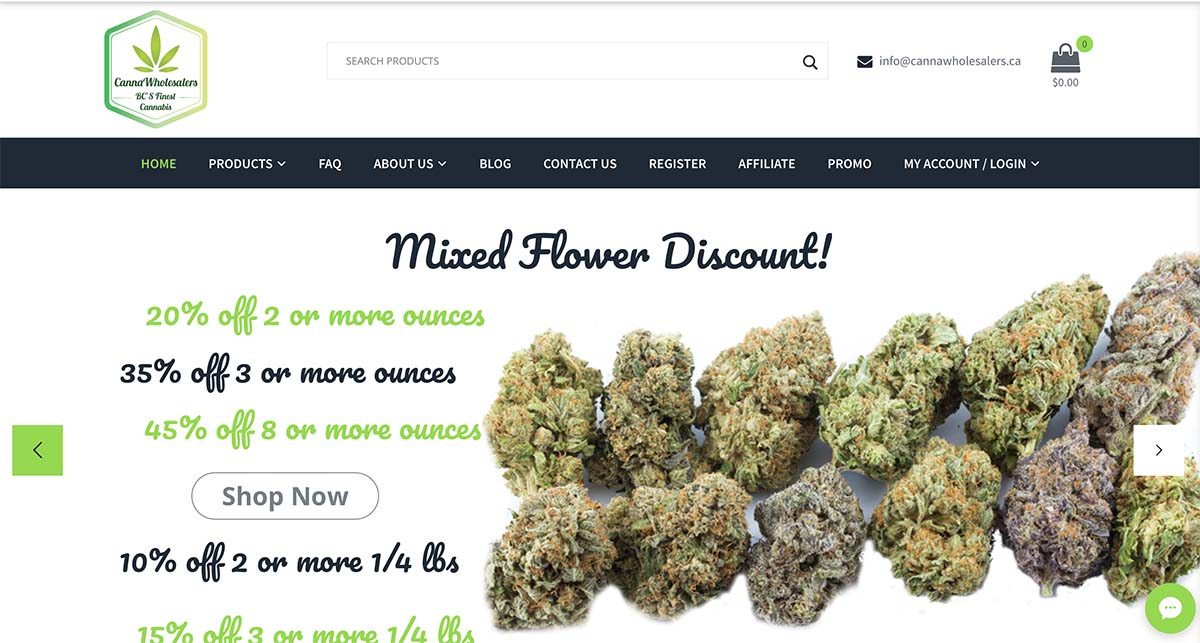 Canna Wholesalers coupon code and review