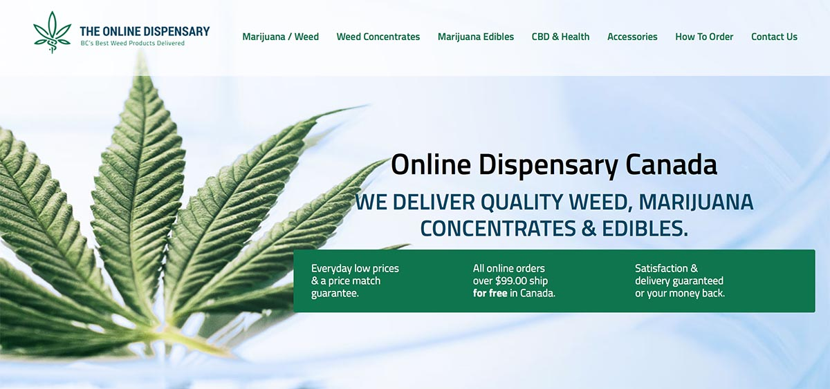 The Online Dispensary review and coupon codes for Canada's best marijuana
