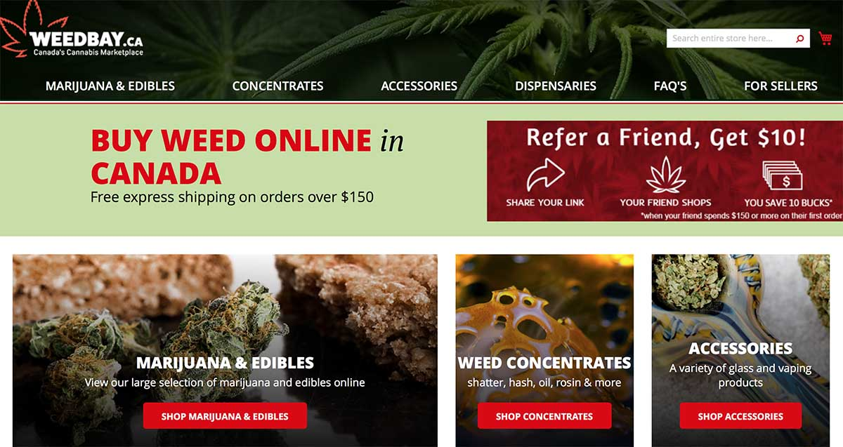 Weedbay dispensary review and coupon code for 10% off first order