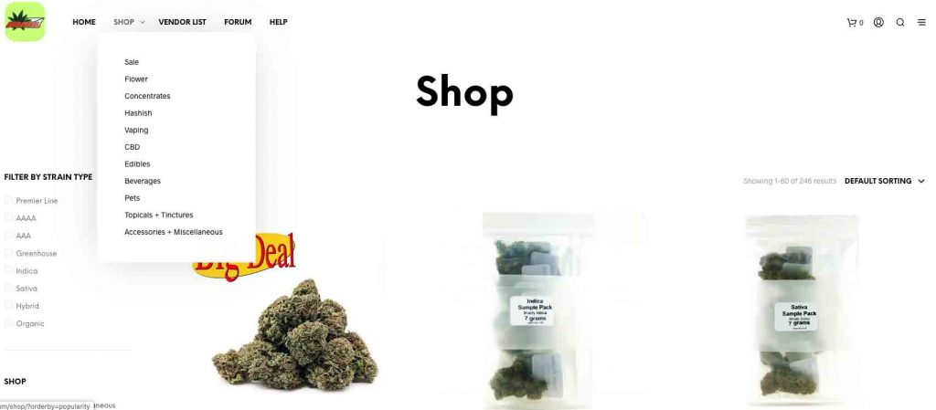 Budmail offers a wide range of cannabis products for sale.