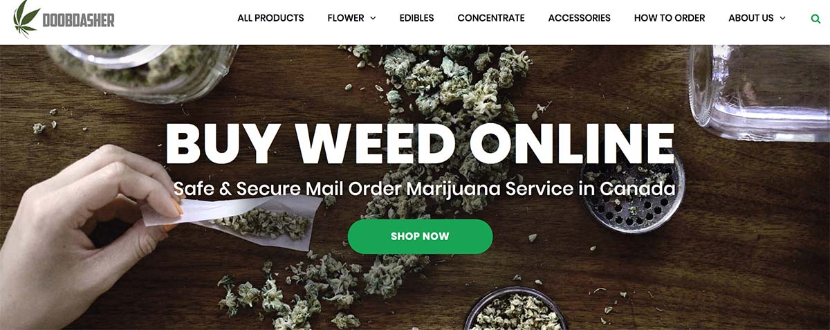 review and coupon codes for online dispensary Doobdasher.