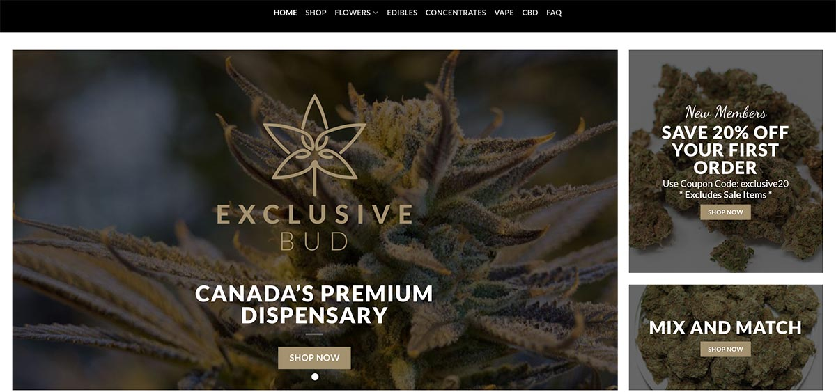 Review of Exclusive Bud dispensary and coupon codes.