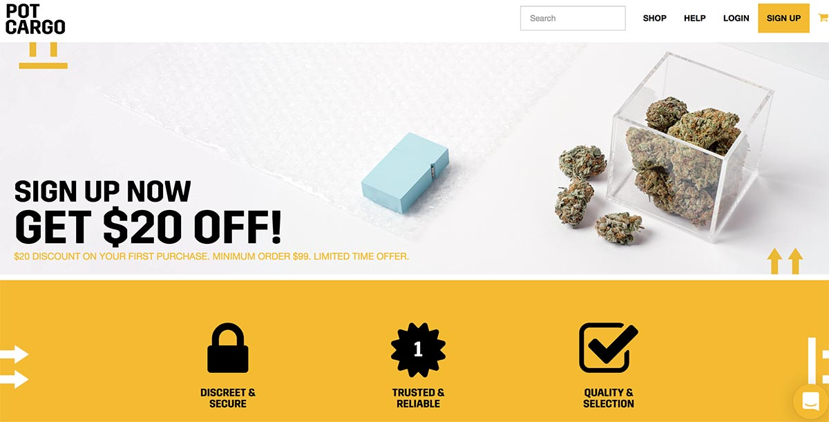 review and coupon codes for pot cargo online dispensary.