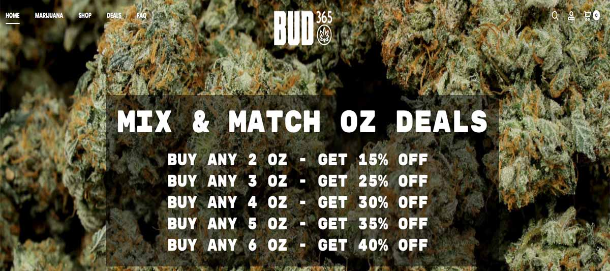 Legit Bud365 review and coupon codes for those buying weed in Canada.