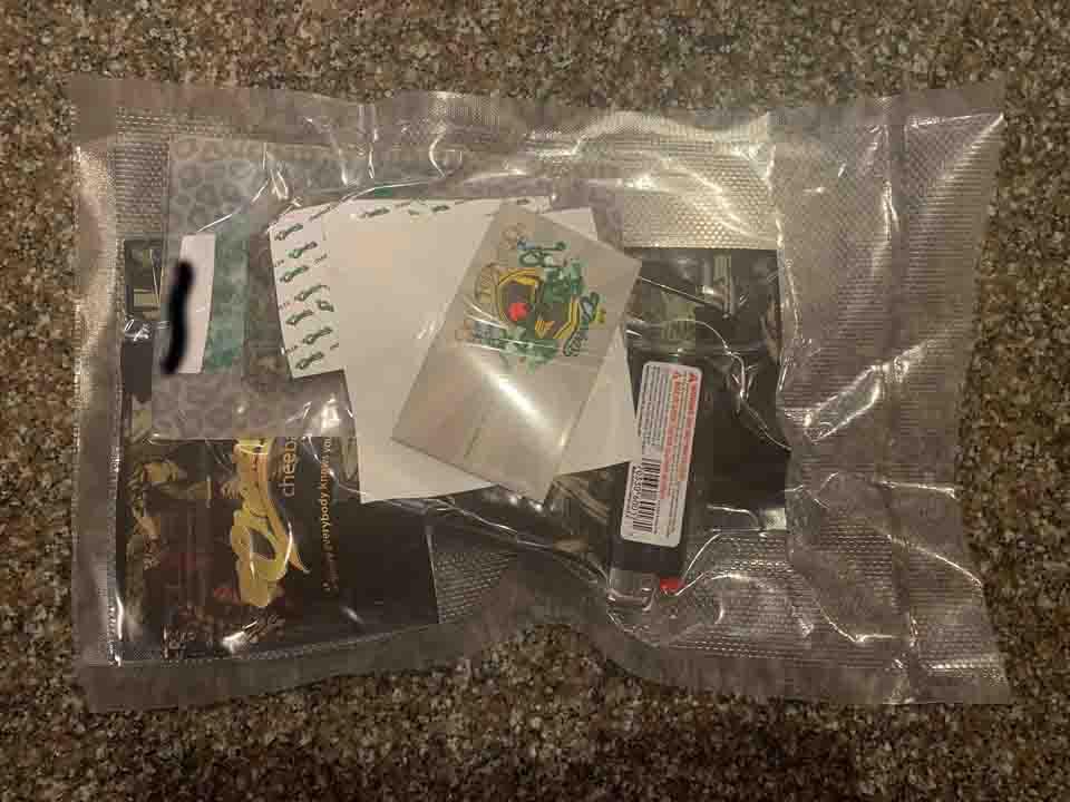 Cheebas shipping packaging