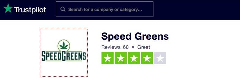SpeedGreens has a great reputation on Trustpilot.com.