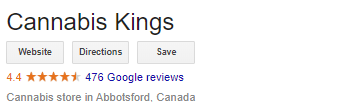 Cannabis Kings has a great reputation on Google Reviews.