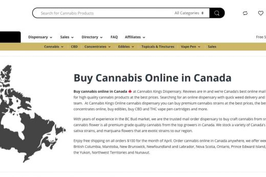 Review of Cannabis Kings Dispensary in British Columbia.