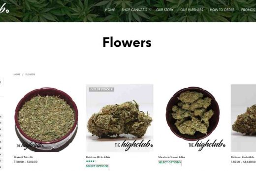 The High Club online dispensary review.