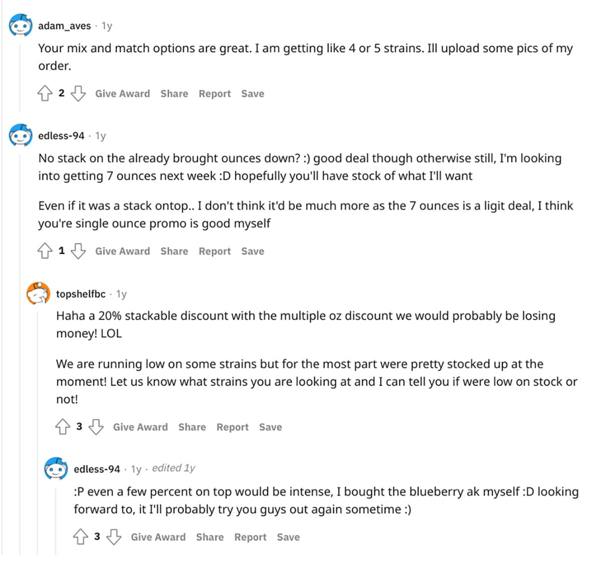 Top Shelf BC reviews on Reddit